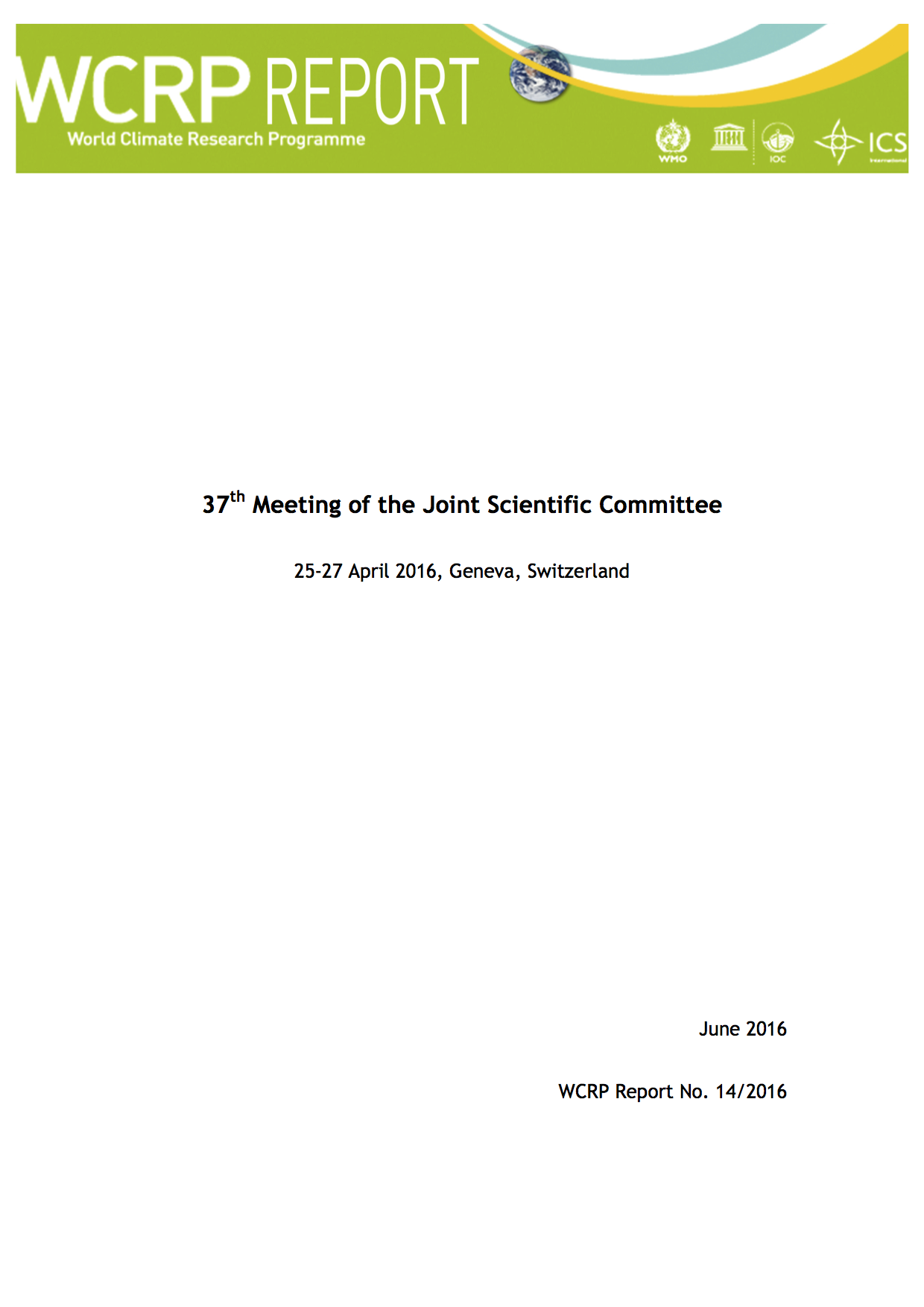 37th Session of the Joint Scientific Committee