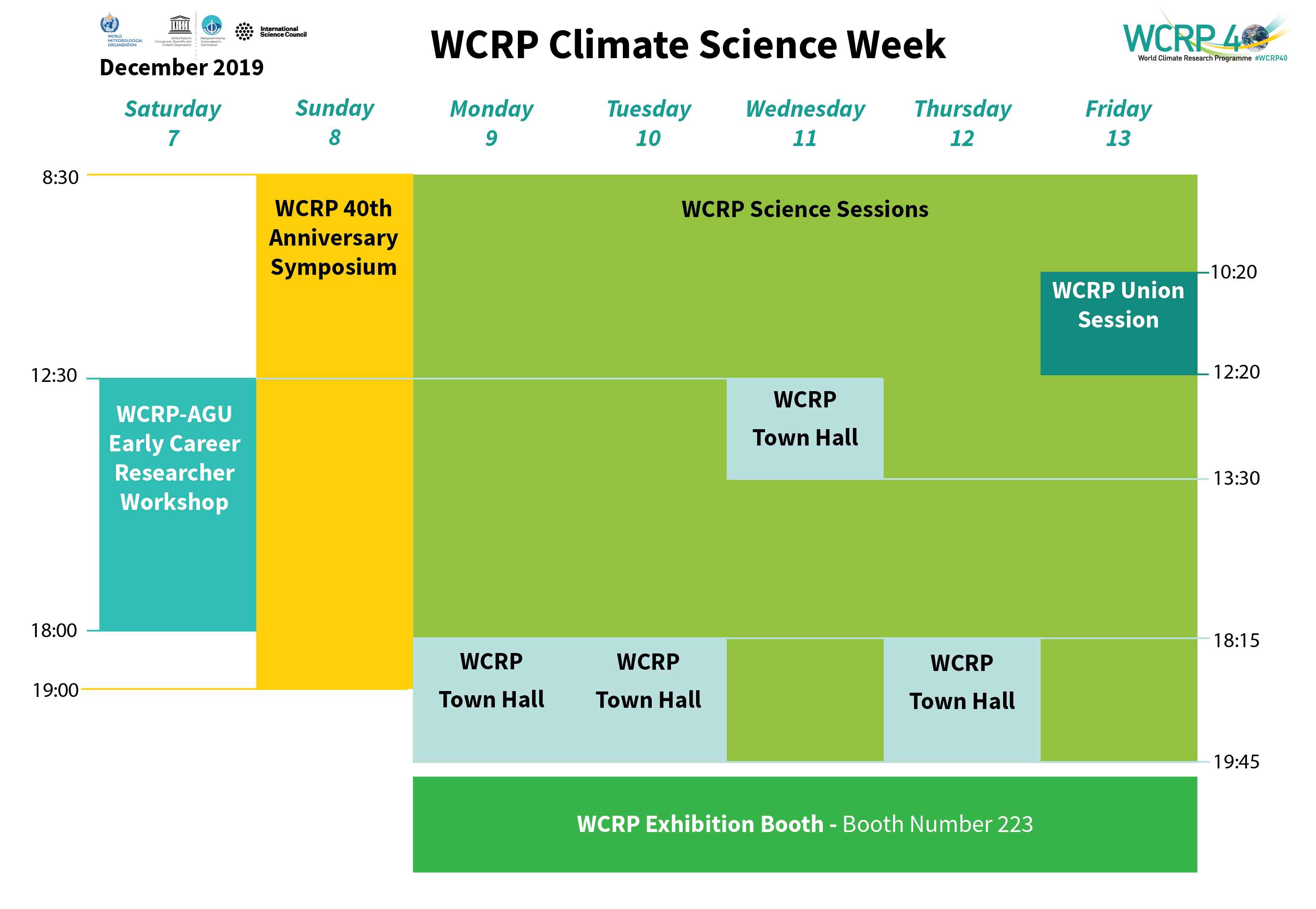 WCRP Climate Science Week Schedule