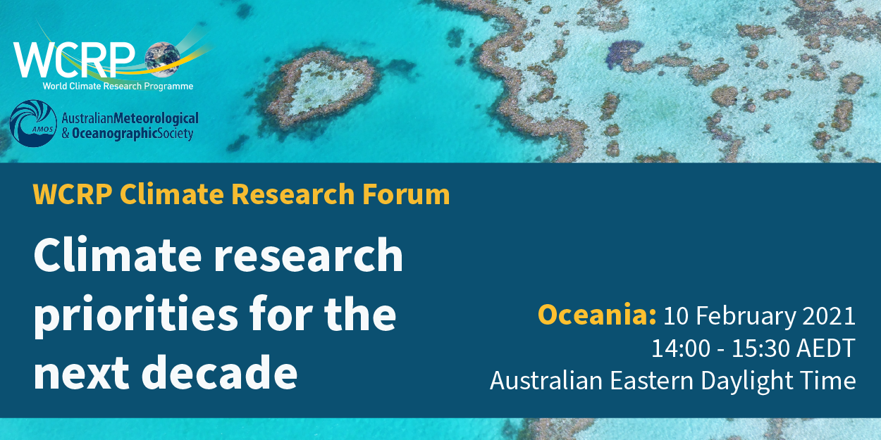 WCRP Climate Research Forum - Oceania