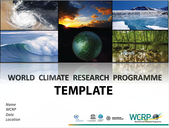 WCRP Presentation Cover