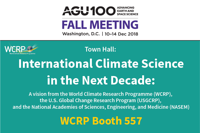 WCRP at AGU Fall Meeting 2018