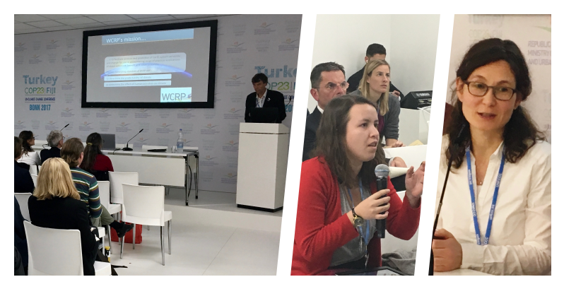 Photos of WCRP/ICSU side event at COP23