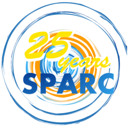 Anniversary logo for 25 years of SPARC anniversary event