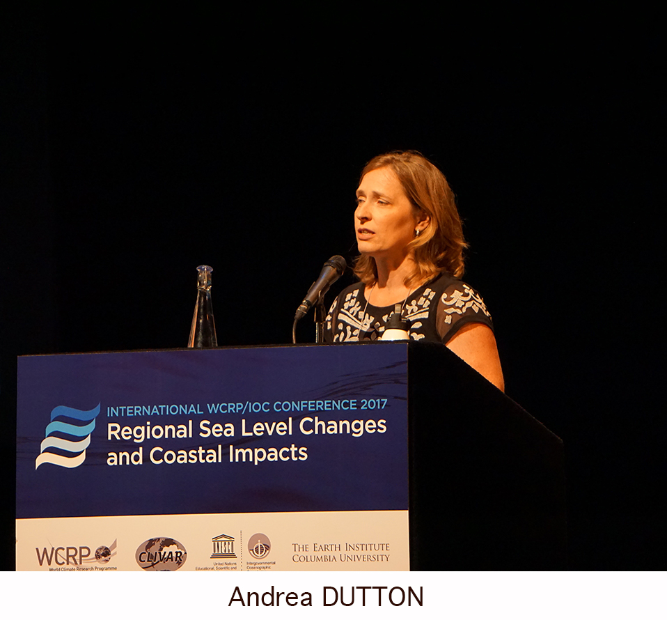 Day 1 of the Regional Sea Level Changes and Coastal Impacts Conference - Andrea Dutton