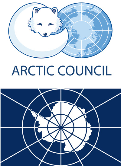 Logos of the Arctic Council and Antarctic Treaty