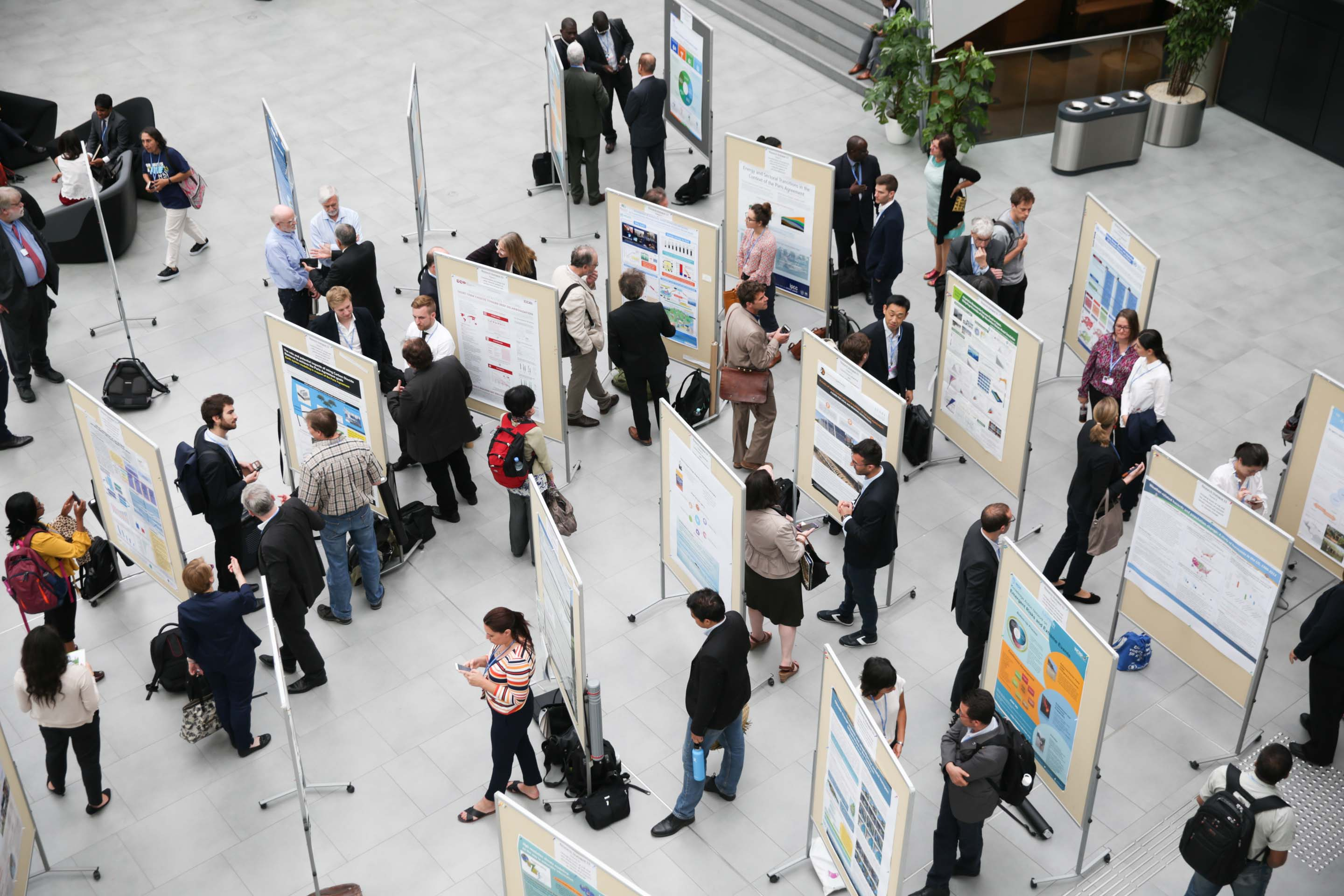 Photo of poster session at UNFCCC SBSTA-50 2019