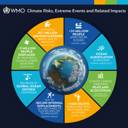 WMO infographics for 2018 climate statement