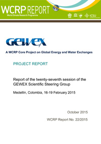 GEWEX 27th Session of the Scientific Steering Group 2015